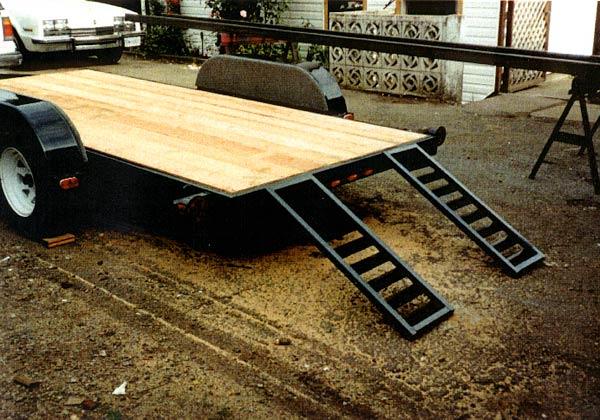 Diy utility trailer ramp diy unixcode for Metal craft trailers parts